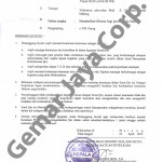 Surat Ijin Kepolisian Kegiatan Nobar Campion 3