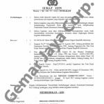 Surat Ijin Kepolisian Kegiatan Nobar Campion 6